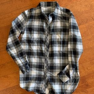 NEW! Women's Athleta Flannel Long Sleeves-SMALL